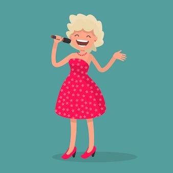 Поющая девочка. поп-исполнитель.