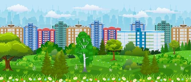 Современный вид на город.