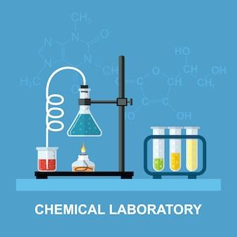 Химическая посуда, лаборатория.