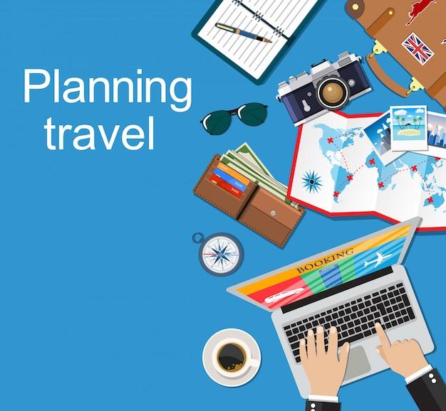 Баннер планирование путешествий.