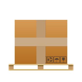 大きな茶色の閉じたカートン配達ボックス