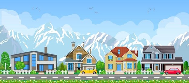 小さな村の風景。