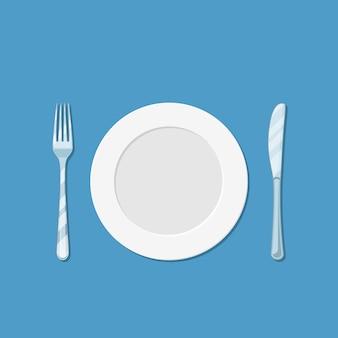 Тарелка ножа и вилки