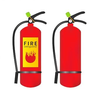 消火器のアイコンは白い背景に分離されます。イラスト要素