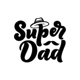 父の日のレタリング