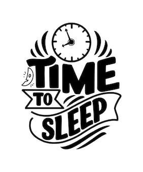 Надпись о сне и спокойной ночи