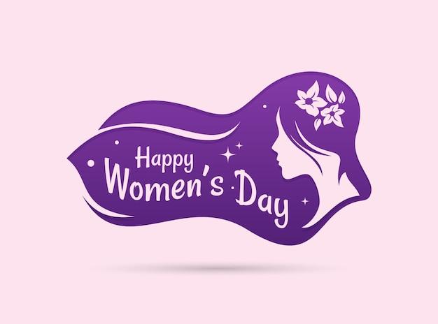 Силуэт женский день премиум