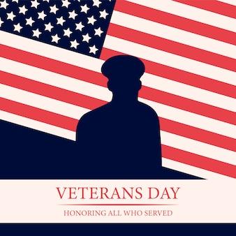 День ветеранов фоне национального американского события.