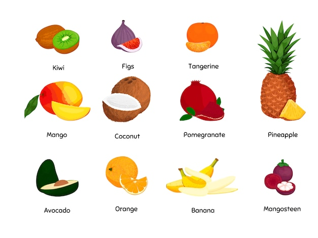 トロピカルフルーツセット。