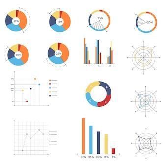 別の図で設定された抽象的なインフォグラフィック。