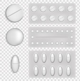 Тарелка таблеток. медицинские таблетки различных форм. медицинский препарат таблетки для лечения болезней и болей. концепция медицины и здравоохранения. вид сверху