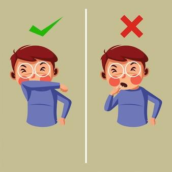適切な咳の指示