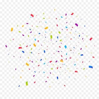 Многоцветный фон конфетти взрыв