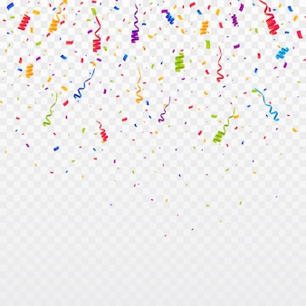 紙吹雪の背景の色。パーティーのベクトル図を祝う
