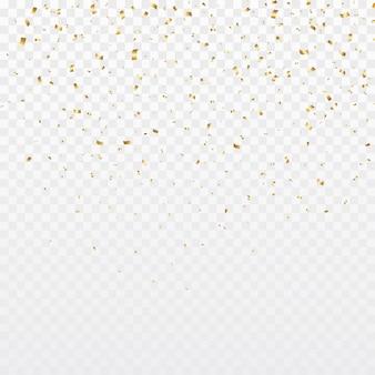 金の紙吹雪の背景