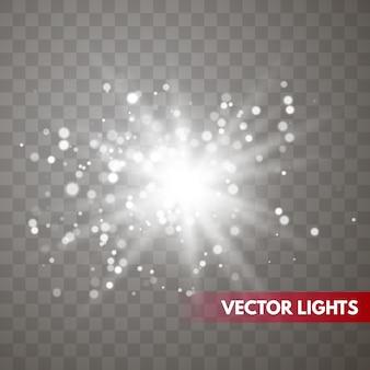星の爆発ベクトル図、輝く太陽。分離されたサンシャイン