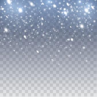 Падающий снег векторный фон. снегопад