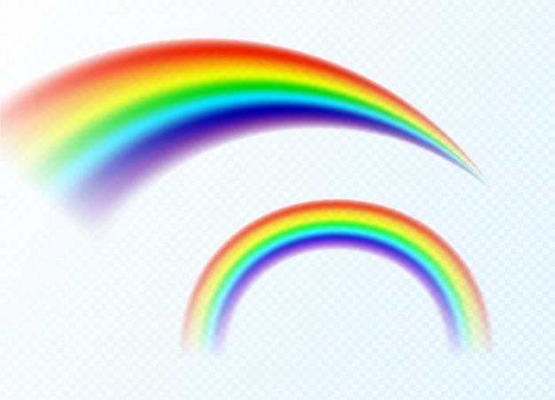 白い背景で隔離の虹。ベクトルイラスト。
