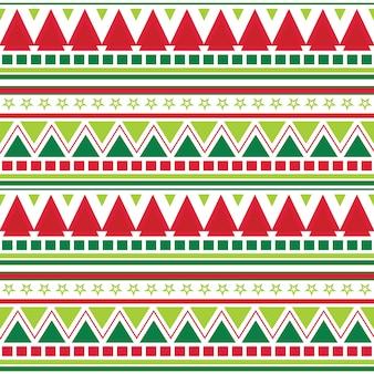 アステカのパターン設計とのシームレスなクリスマス背景