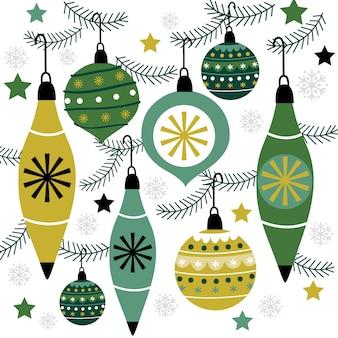 クリスマスつまらないもの、ハンギングデコレーション、クリスマスカードの装飾