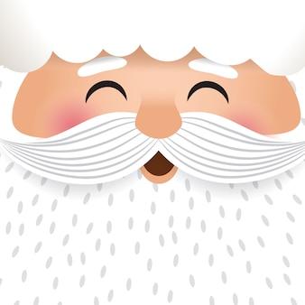 サンタクロースの顔のキャラクターイラスト