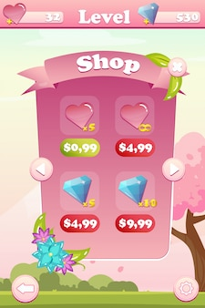 ゲームのショップ画面