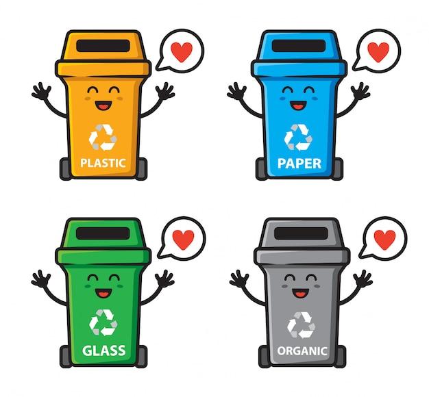 ゴミのセットはキャラクターデザインを愛することができます。