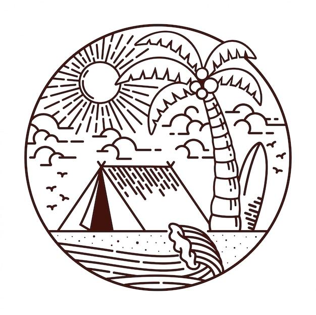 キャンプのビーチ線図