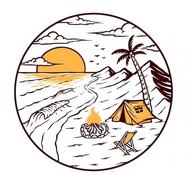 ビーチでのキャンプ