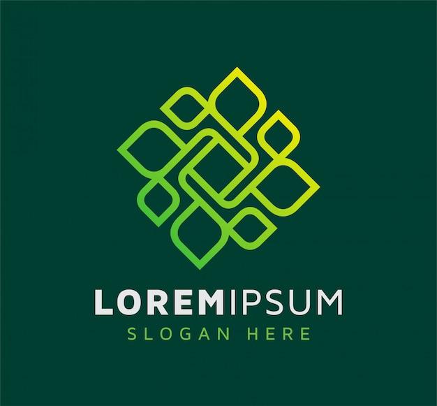 Элегантный дизайн логотипа листьев природы