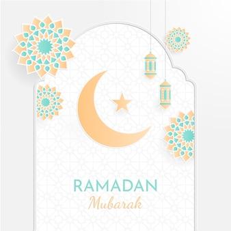 イスラム幾何学模様のラマダンカリームコンセプト。