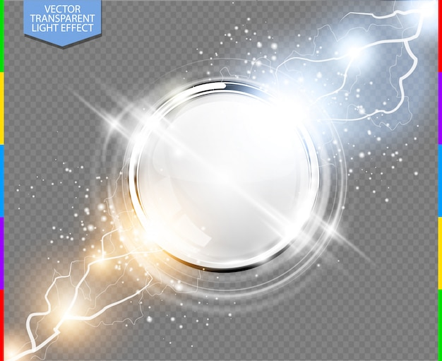 Абстрактный металлический круг с лучами