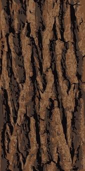シームレスなオークの木の樹皮のテクスチャー