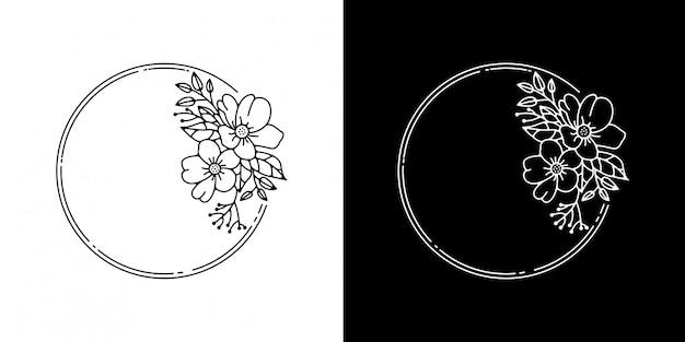 モノラインのビンテージフレームデザイン