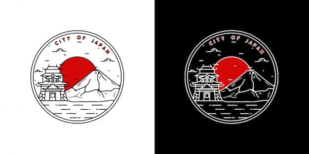 Монолайн япония винтажный значок