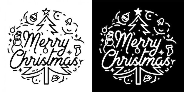 Счастливого рождества дизайн бейджа