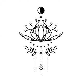幾何学的なタトゥー