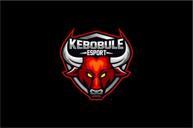 Голова быка с логотипом щита