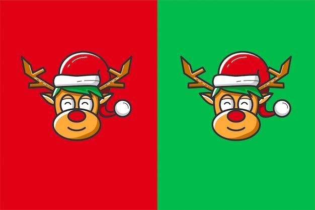 Олень рождественский вектор