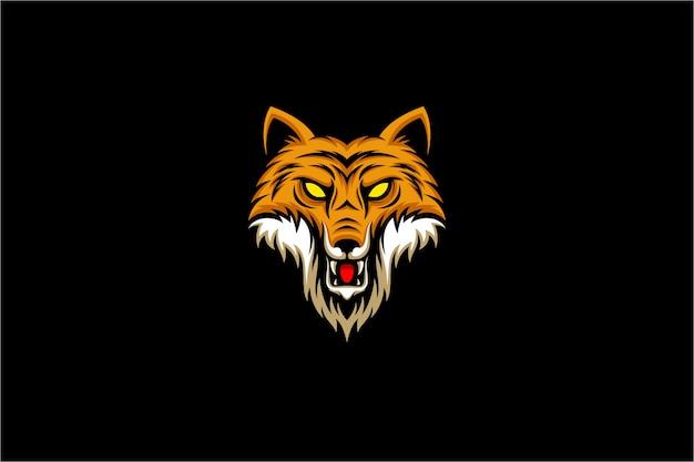 Злая иллюстрация головы лисы