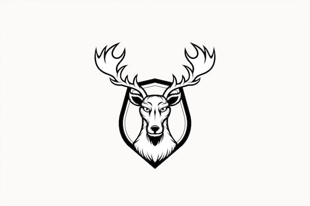 Иллюстрация эмблемы северного оленя