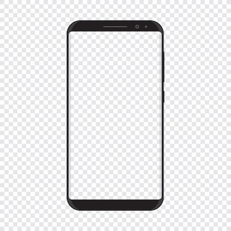 透明な背景を持つスマートフォン