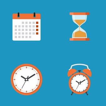 Крайний срок значок бизнес-концепция, плоский дизайн векторные иллюстрации