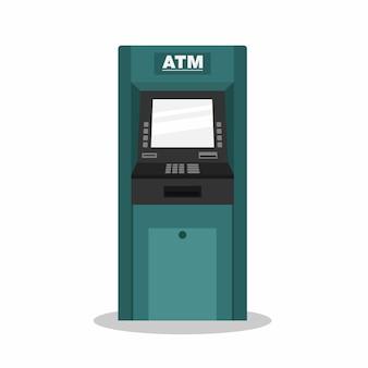 Банкомат плоская иллюстрация