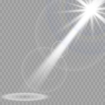 Подсветка сцены, прозрачный эффект. яркое освещение с прожектором.