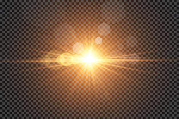 グローライト効果。太陽。