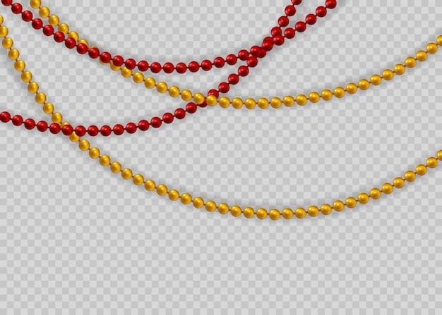 Красивая цепочка разных цветов.