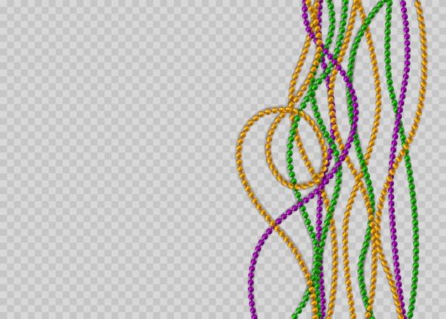 Бусы в традиционных цветах. декоративные глянцевые реалистичные элементы