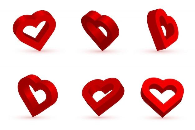 Форма красное сердце на день святого валентина. любовь, романтика.