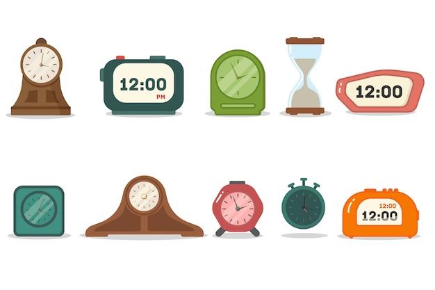 目覚まし時計、タイマー、時計の種類。朝起きて。